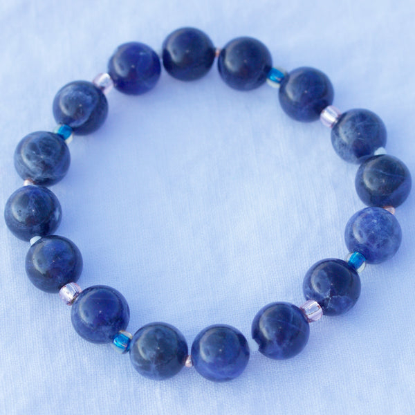 Air Collection Sodalite 10mm Stretch Bracelet