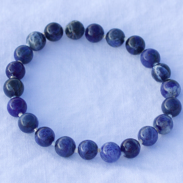 Air Collection Sodalite 8mm Stretch Bracelet