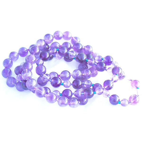 Earth Collection Light and Dark Amethyst Stretch Bracelet