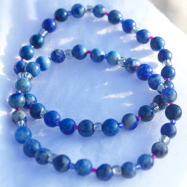 Earth Collection Lapis Stretch Bracelet