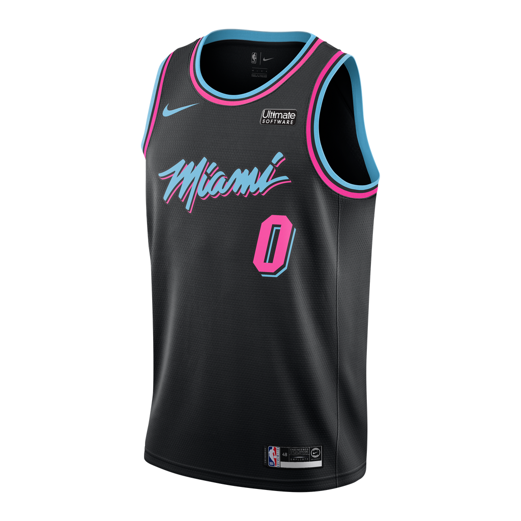 Josh Richardson Nike Miami HEAT Youth Vice Nights Swingman Jersey - featured image