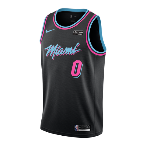 Josh Richardson Nike Miami HEAT Youth Vice Black City Edition Swingman Jersey