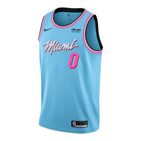 Meyers Leonard Nike Miami HEAT ViceWave Swingman Jersey