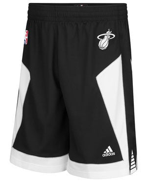 adidas Miami HEAT Youth Black Tie Swingman Shorts