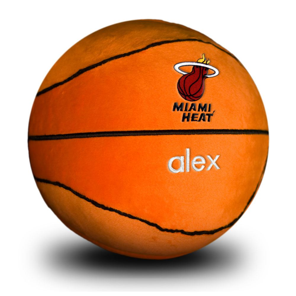 Designs by Chad and Jake Miami HEAT Custom Plush Basketball - featured image