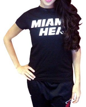 5th and Ocean Miami HEAT Dancer T-Shirt Black