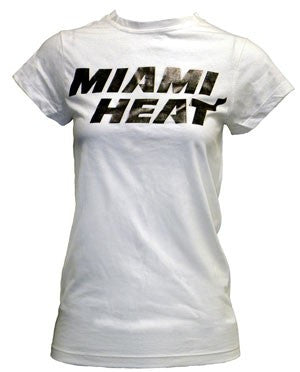 5th and Ocean Miami HEAT Dancer T-Shirt White - featured image