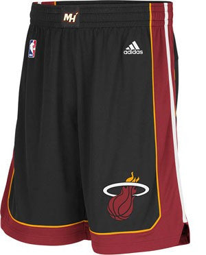 adidas Miami HEAT Adult Swingman Shorts Black