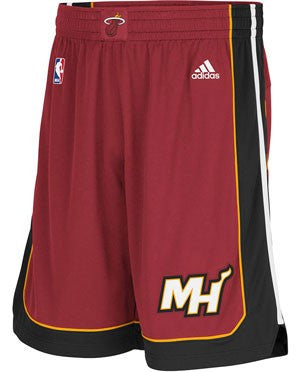 adidas Miami HEAT Adult Swingman Shorts Red