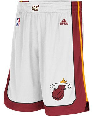 adidas Revolution 30 Miami HEAT White Authentic Shorts