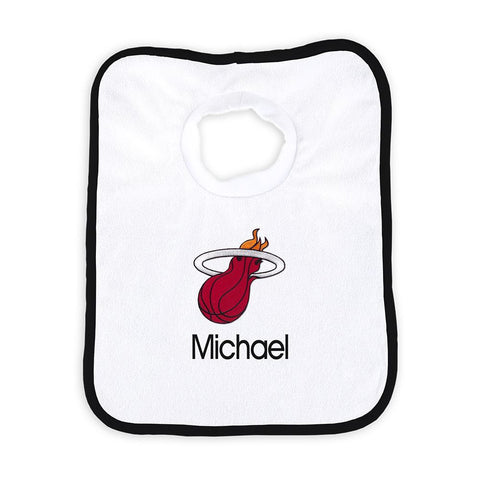 Designs by Chad and Jake Miami HEAT Custom Infant Pullover Bib