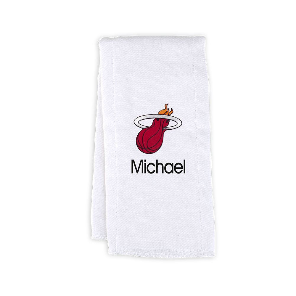 Designs by Chad and Jake Miami HEAT Custom Infant Burp Cloth - featured image