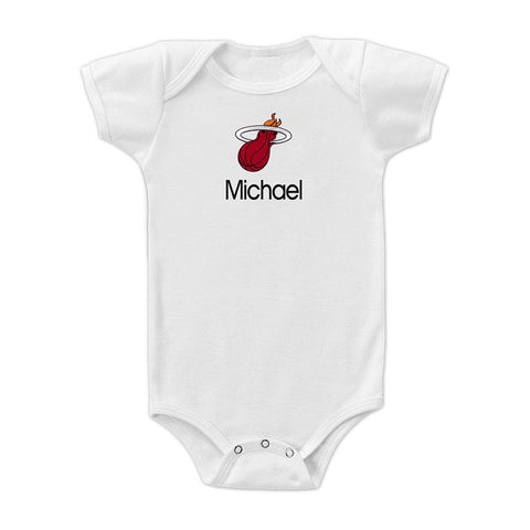 Designs by Chad and Jake Miami HEAT Custom Onesie