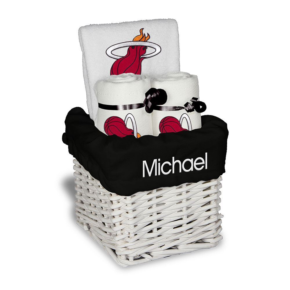 Designs by Chad and Jake Miami HEAT Custom Infant Small Basket - featured image