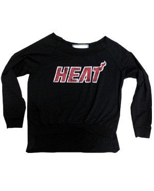 GIII Miami HEAT Ladies Draft Sweatshirt