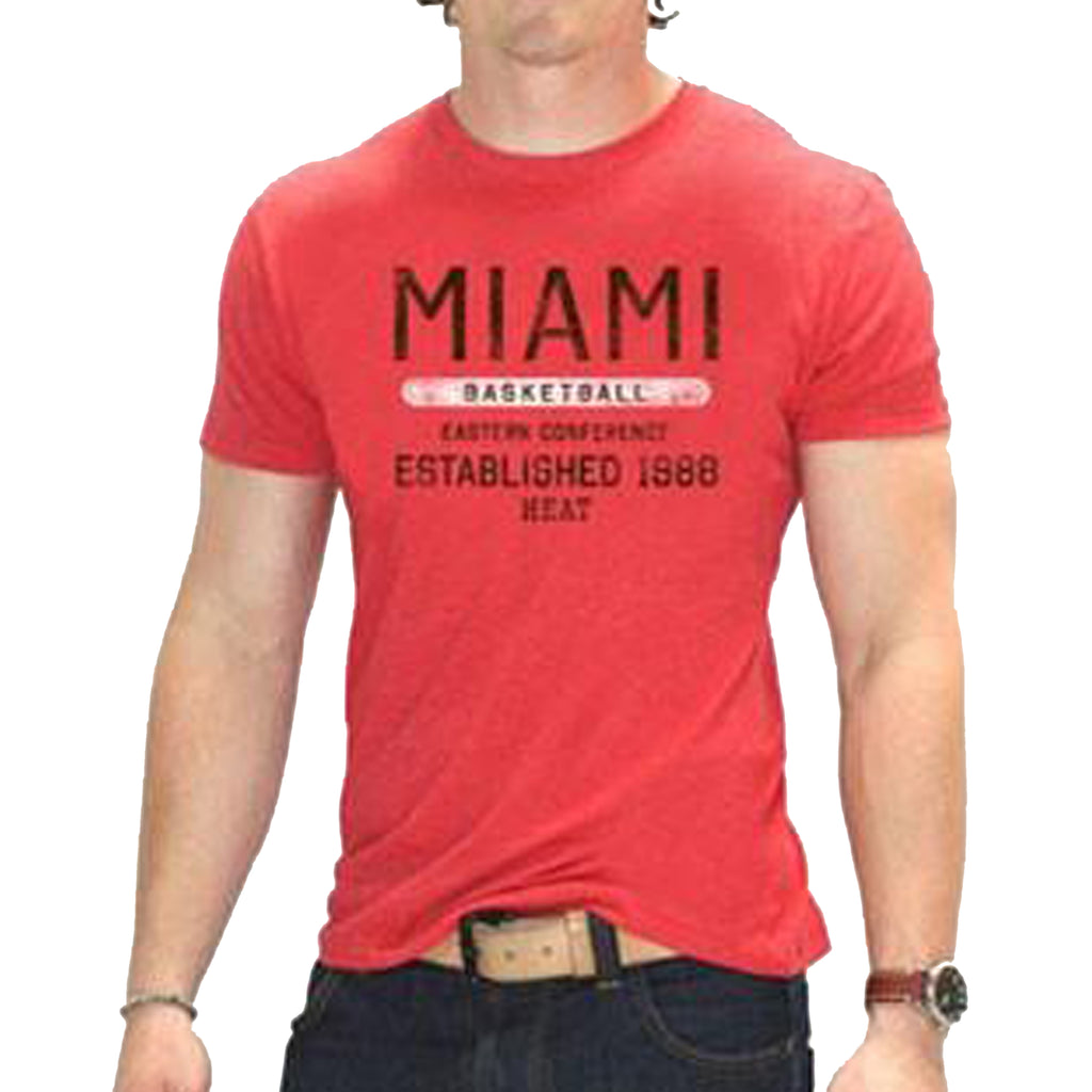 Sportiqe Miami HEAT Red Wayzata T-Shirt