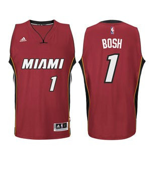Chris Bosh Miami HEAT adidas Road Youth Swingman Jersey Red