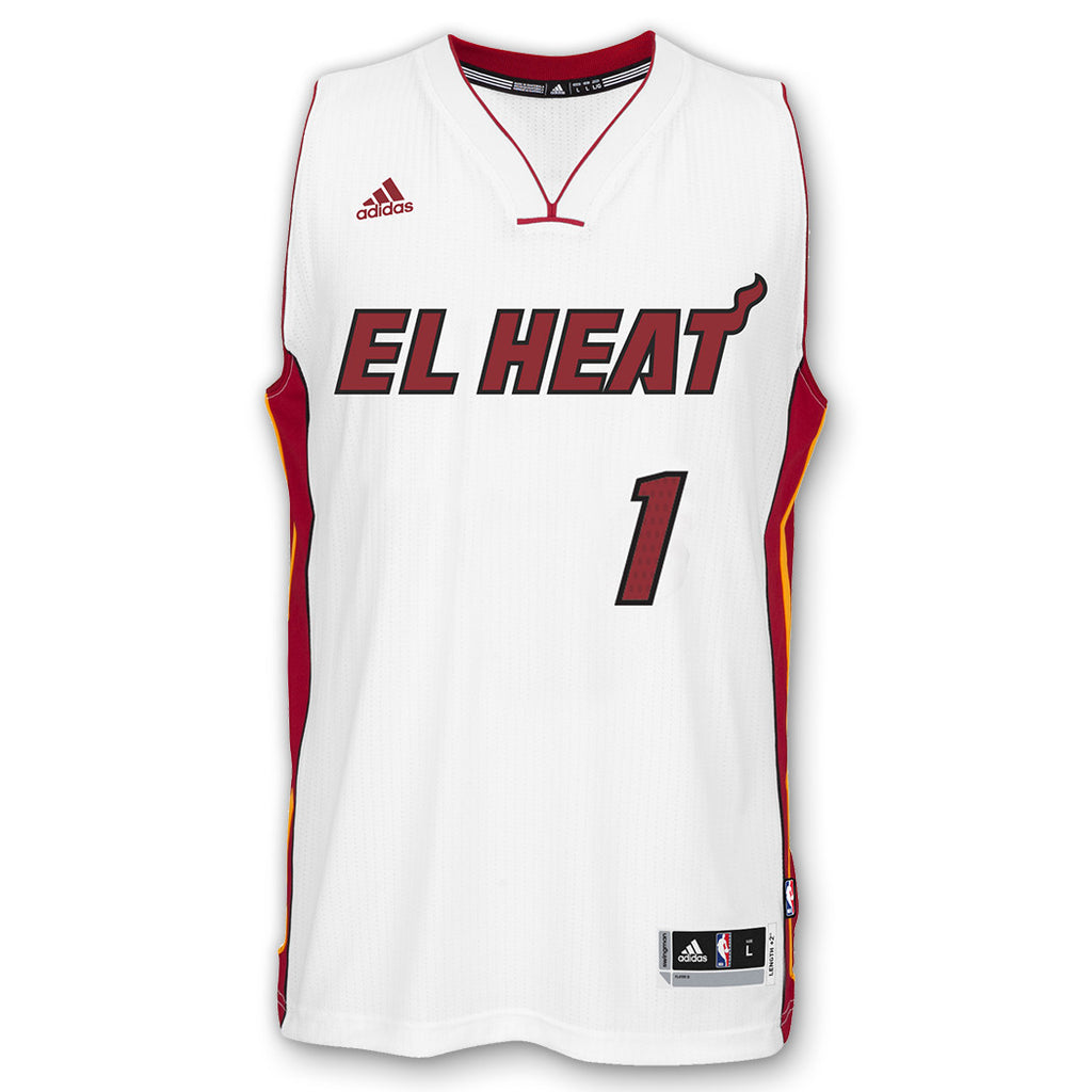 Chris Bosh EL HEAT adidas Youth Swingman Jersey White - featured image