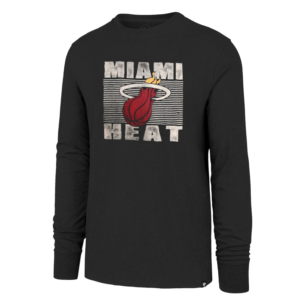 '47 Brand Miami HEAT Youth Long Sleeve Flanker T-Shirt - featured image