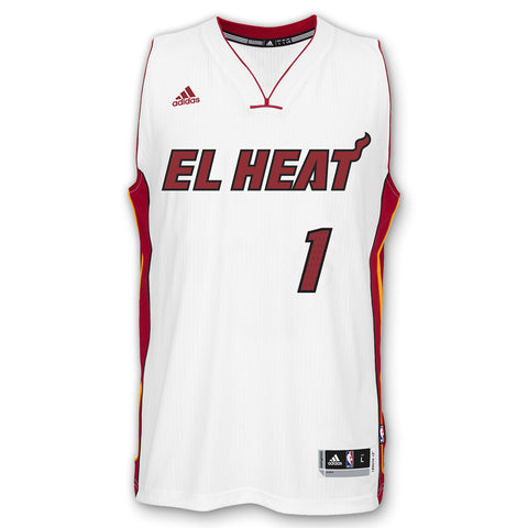 Chris Bosh Miami HEAT adidas EL HEAT Swingman Jersey White