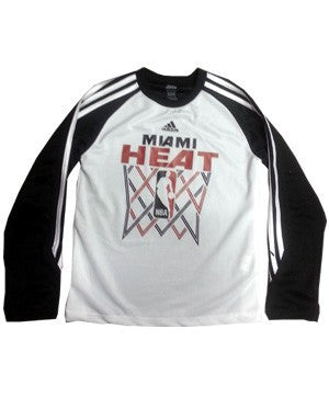 adidas Miami HEAT Youth Long Sleeve Performance T-Shirt - featured image