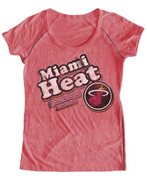 5th and Ocean Miami HEAT Ladies Scoop Bubble T-Shirt