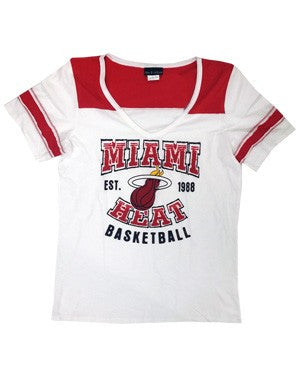 5th and Ocean Miami HEAT Ladies Short Sleeve Basket Ball T-Shirt