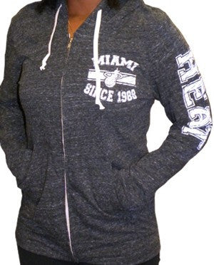 5th and Ocean Miami HEAT Ladies Zip Hoodie