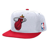 Mitchell and Ness Miami HEAT XL Two Tone Snapback - 5