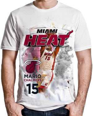 Levelwear Mario Chalmers Miami HEAT Adult Center Court T-Shirt - featured image