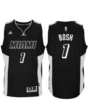 Chris Bosh Miami HEAT adidas Black Tie Swingman Jersey