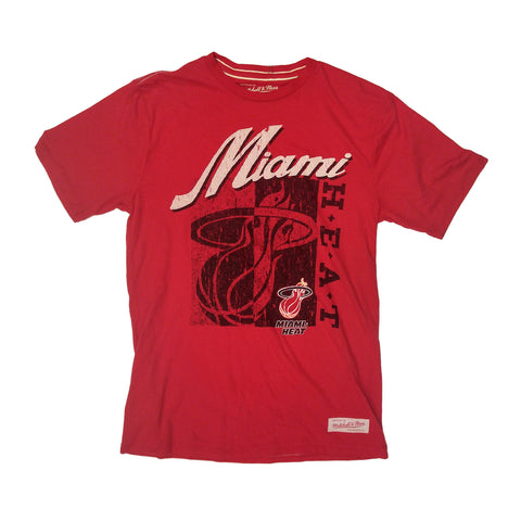 Mitchell and Ness Miami HEAT Split Logo T-Shirt