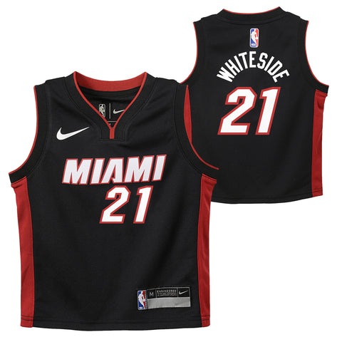 Hassan Whiteside Nike Miami HEAT Toddler Replica jersey Black