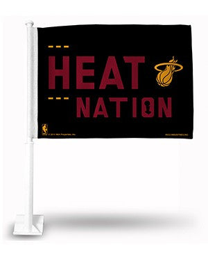Miami HEAT Nation Car Flag