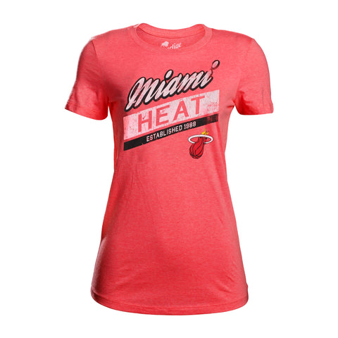 Sportiqe Miami HEAT Ladies Valley Tee