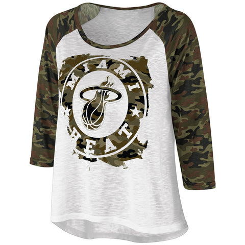 G-III Miami HEAT Ladies Camo Top