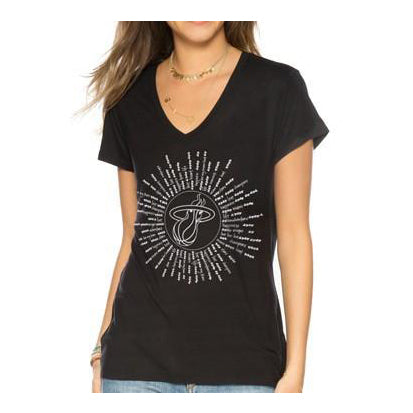 Peace Love World Miami HEAT Black Tie Circle Tee - featured image