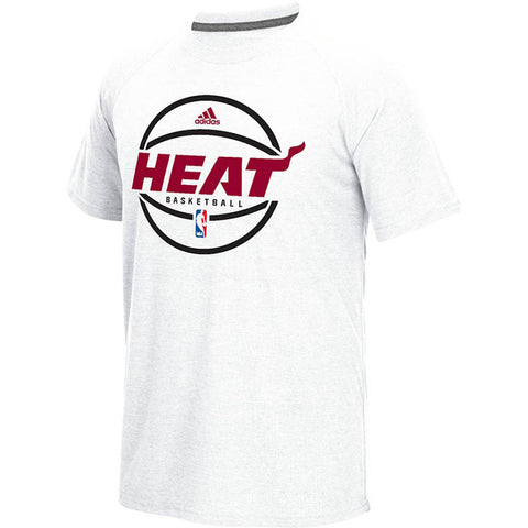 adidas Miami HEAT Pregame Short Sleeve Ultimate T-Shirt