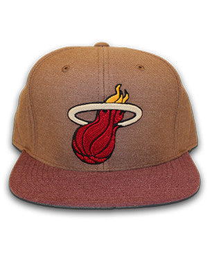 Mitchell & Ness Miami HEAT Heather Fitted