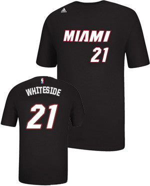 Hassan Whiteside Miami HEAT adidas Youth Name and Number T-Shirt Black