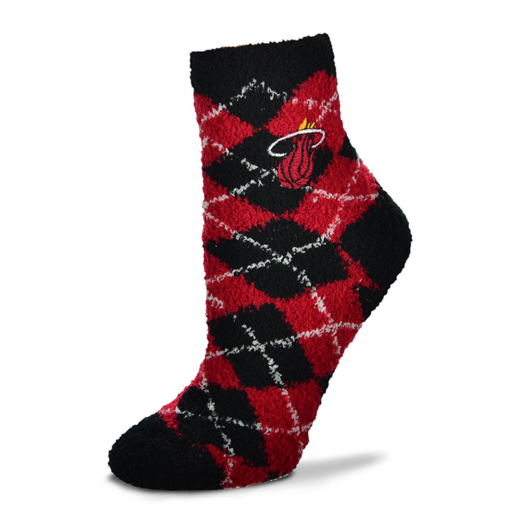 For Bare Feet Miami HEAT Soft Argyle Sock
