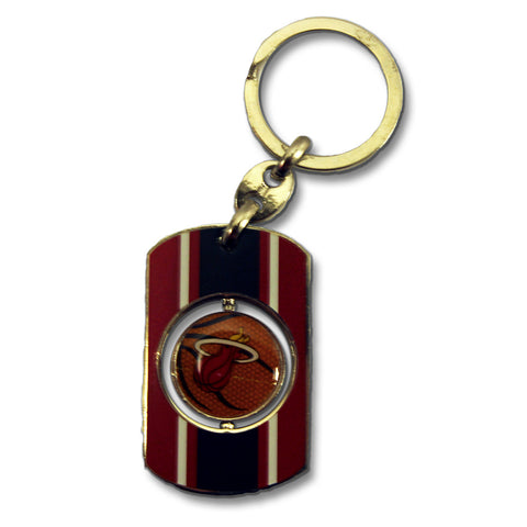 Forever Collectibles Miami HEAT Spinner Key Chain