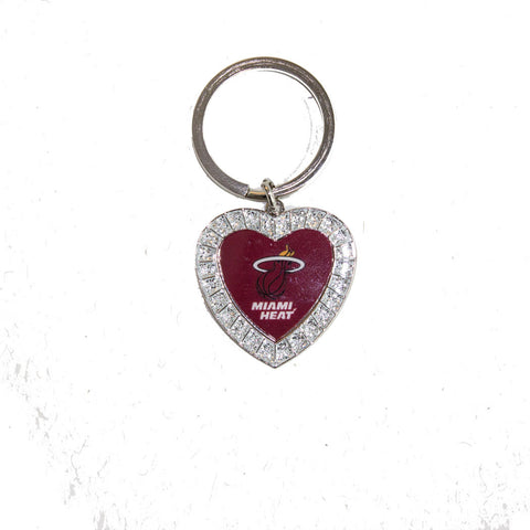 Miami HEAT Rhine Stone Heart Key Chain