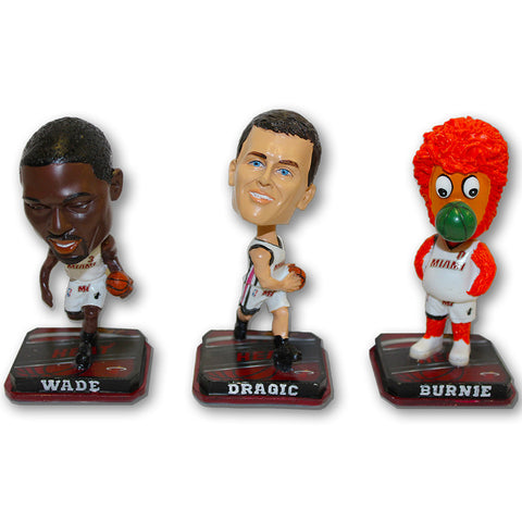 Forever Collectibles Miami HEAT Legacy 3 Pack Bobblehead