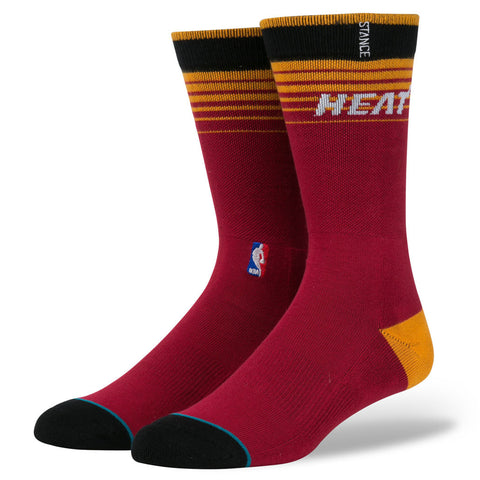 Stance Miami HEAT Arena Logo Crew Sock Red