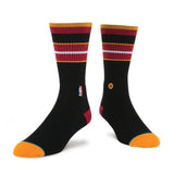 Stance Miami HEAT Arena Core Crew Sock Black - 1