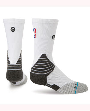 Stance Miami HEAT On Court Solid Crew Sock White