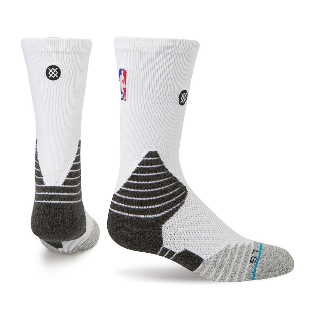 Stance Miami HEAT On Court Solid Crew Sock White - featured image
