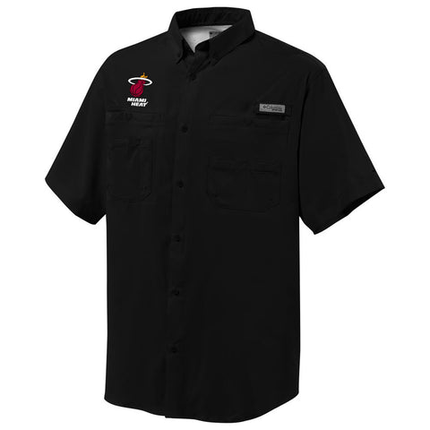 Columbia Sportswear Miami HEAT Tamiami Button Down Shirt Black
