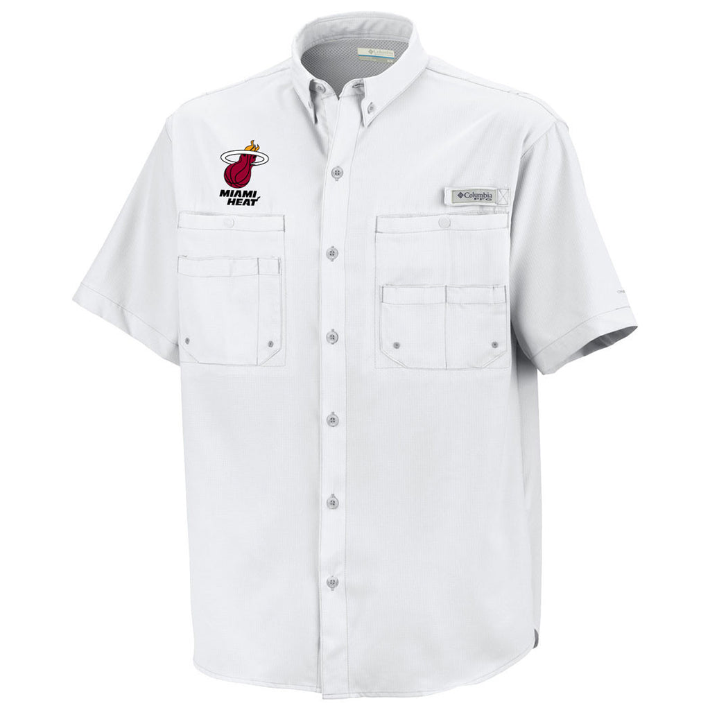 Columbia Sportswear Miami HEAT Tamiami Button Down Shirt White - featured image